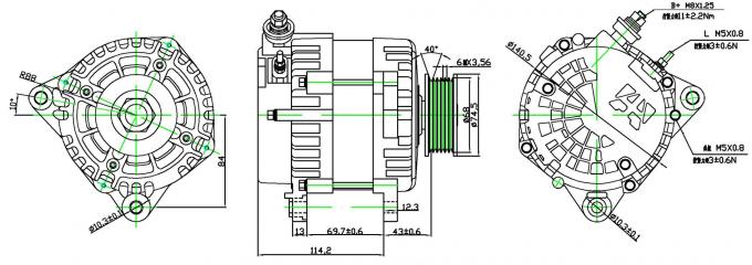 Invention Patent over- big power  56V 50A  AC generator long service life for heavy duty vehicle