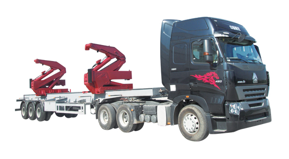 QYJ-36 side crane for 20' and 40' container lifting with 36 tons lifting capacity