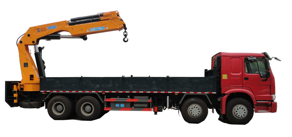 600kN.m knuckle boomed truck-mounted crane 6 sections boom lifting 20ton at 3m