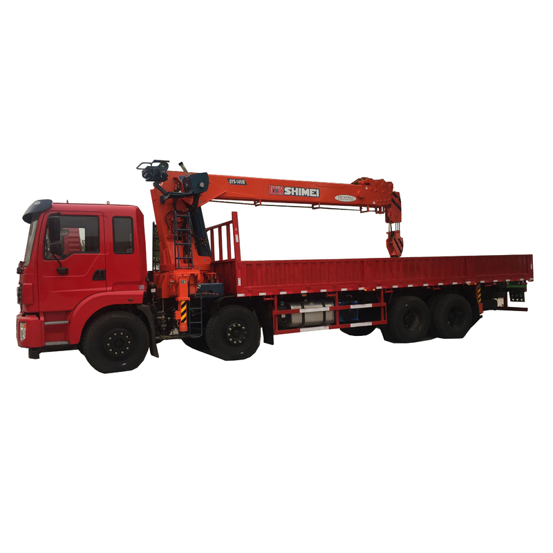 QYS-14IVB manufacturer directly supply stiff boomed 14 tons hydraulic truck mounted crane