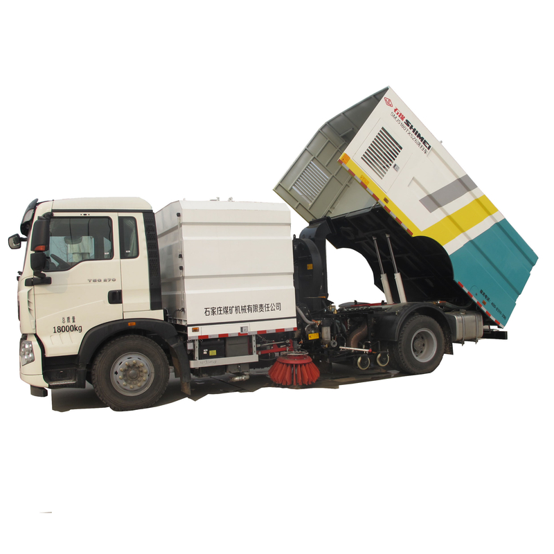 Single Engine Low and High Pressure Water Washing and Cleaning Road Sweeper