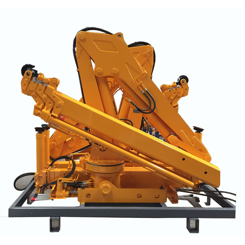 Automobile light type hydraulic knuckle boomed 3 tons loader crane