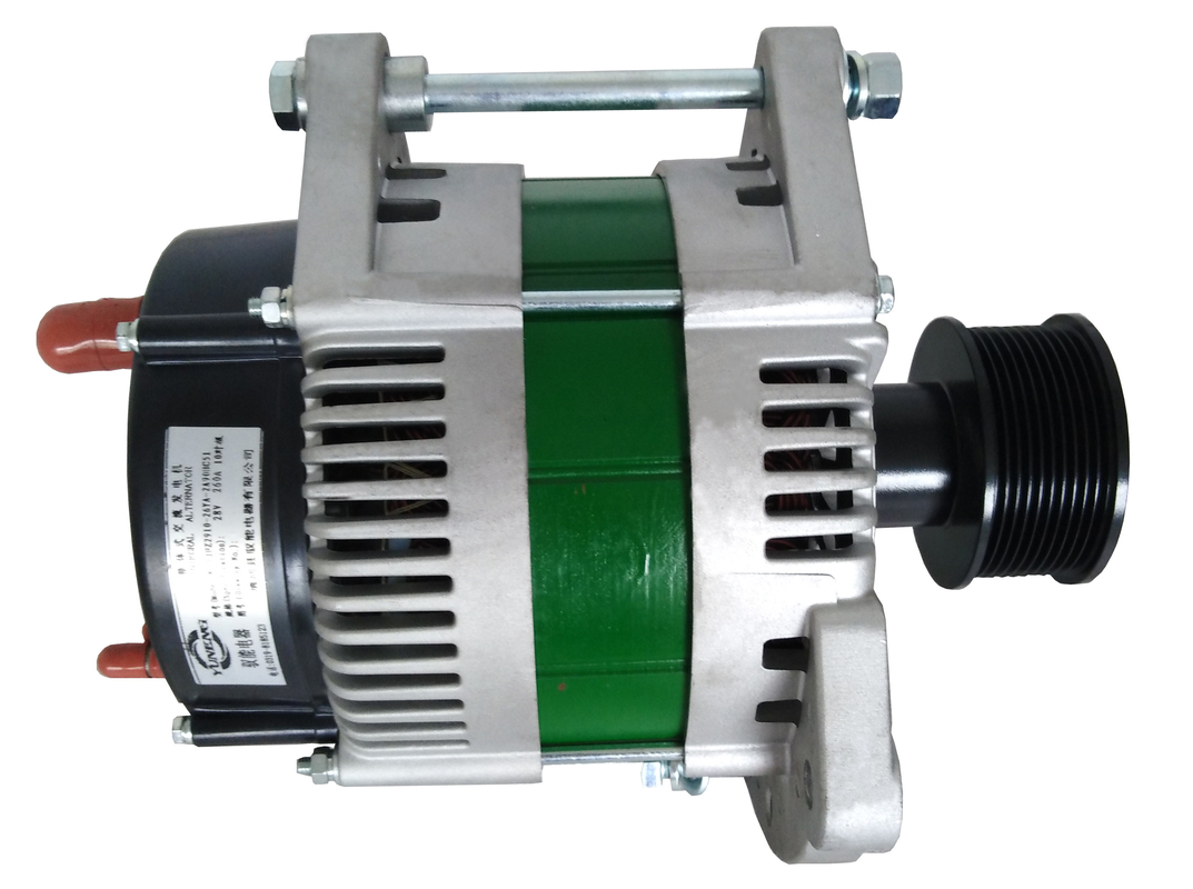 Compact design high amp 24V 360A alternator assembly for fire and rescue trucks