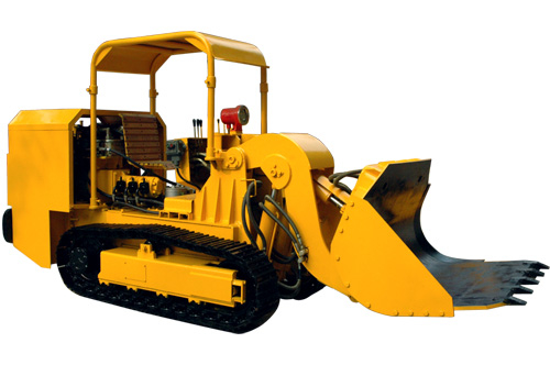 ZCY60R side dumping rock loader for material cleaning after blasting in the underground coal mine