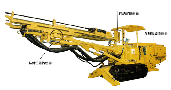 China Flameproofed crawler type rock driller for blasting in the underground coal mine roadway distributor