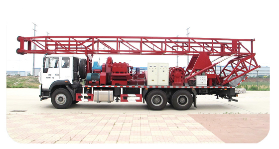 China Double Power double winch SPC-600 portable borewell drilling rig for 600m water well with weight indicator distributor